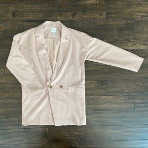 F21 blush blazer